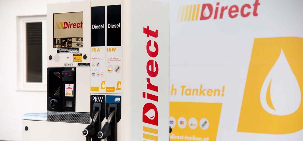 Direct Tankstelle_Tulln Zapfsäule